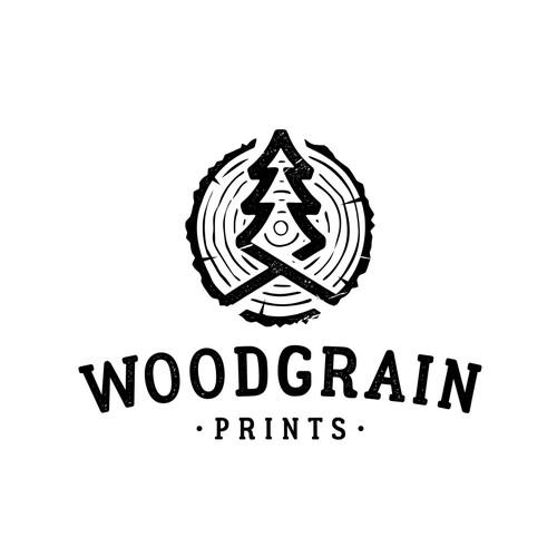 Logo Design For Woodgrain Prints