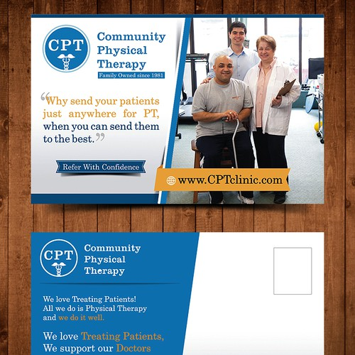Physical Therapy Promo Postcard for MD Offices
