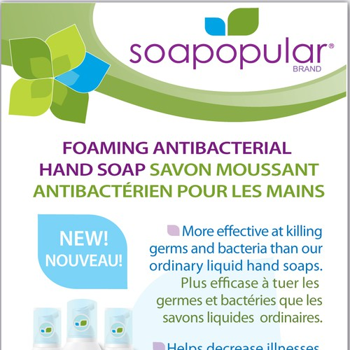 Soapopular - Antibacterial Hand Soap label and banner design