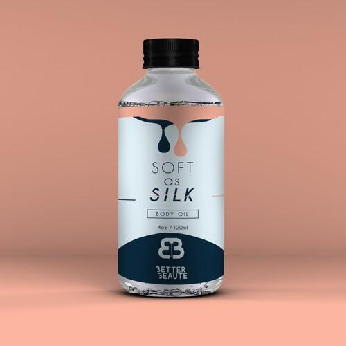 Body oil label