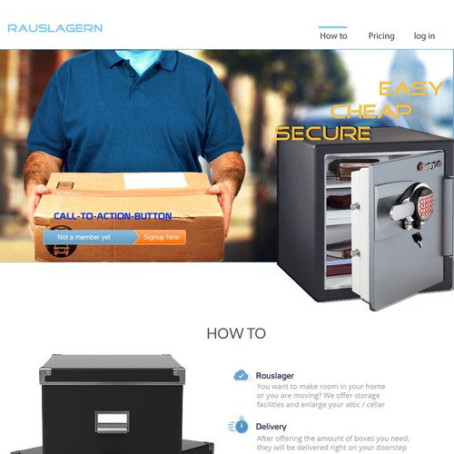 Web design for a novel self storage approach in Germany