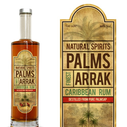 Rum Bottle Label Design