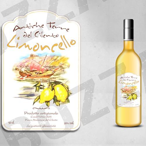 Etichetta per bottiglia di limoncello