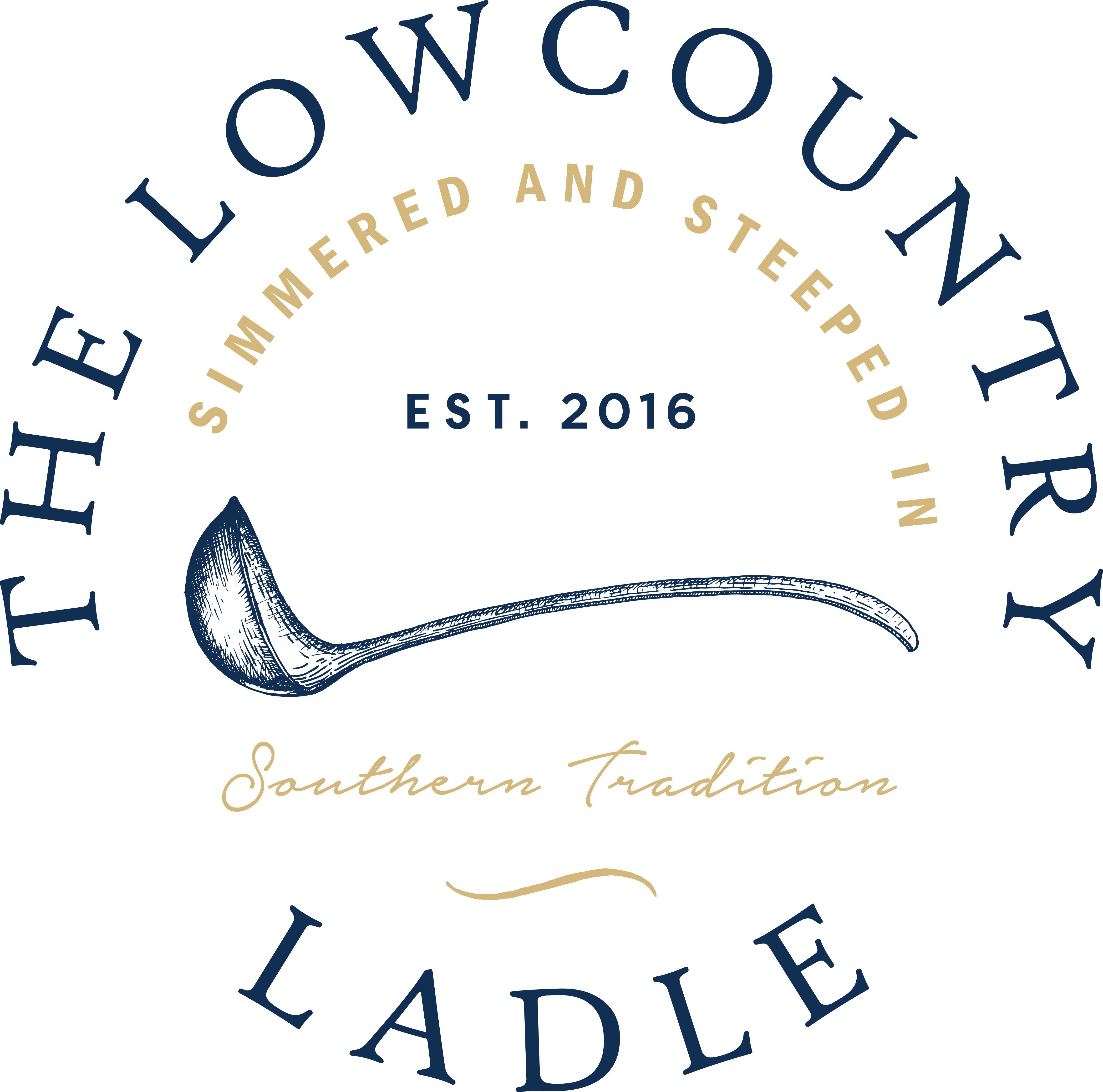 Create a logo for The Lowcountry Ladle, a Southern-family owned artisan foods company