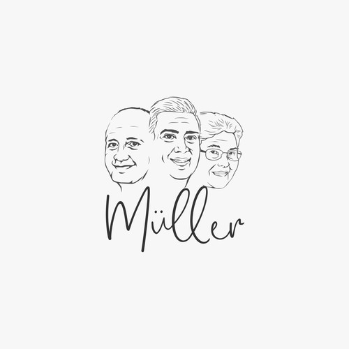 logo concept for Martin Muller, a professional photographer that much about family photos