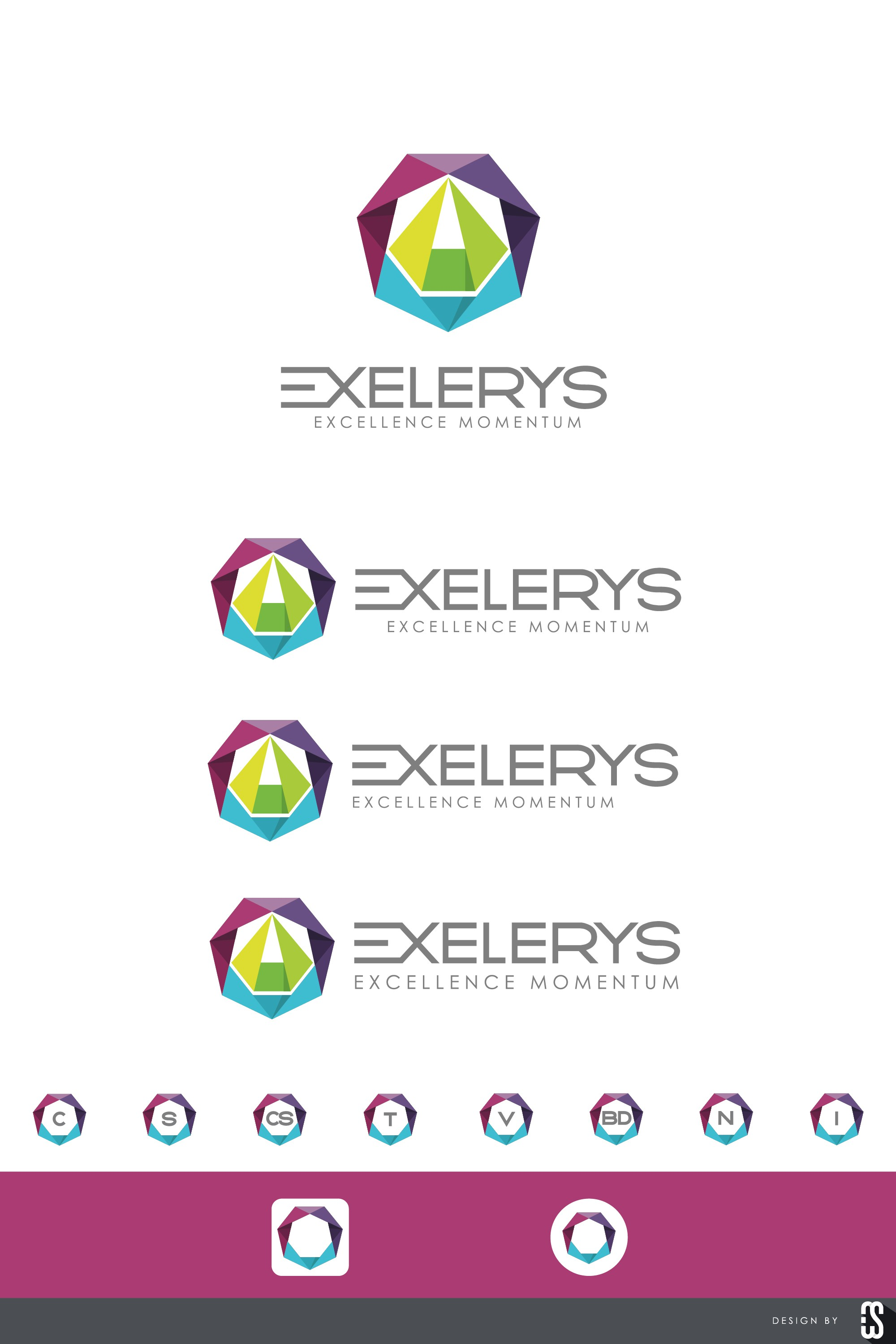 Design a modern flat logo for a consulting company