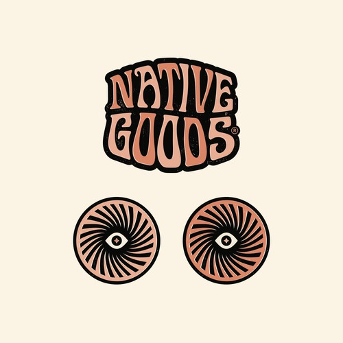 Psychedelic Logo for mens grooming co.