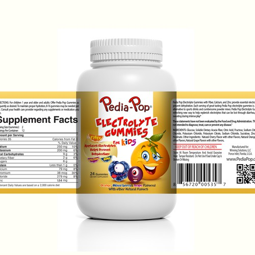 Redesign of Pedia-Pop Electrolyte Gummies