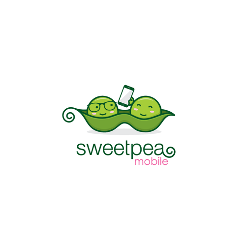 sweetpea mobile logo design