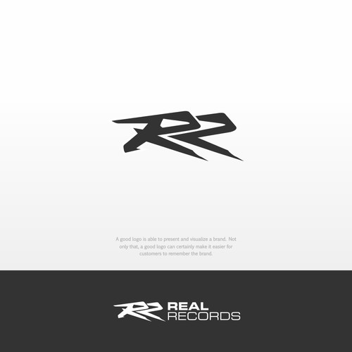 logo concept for REAL RECORDS