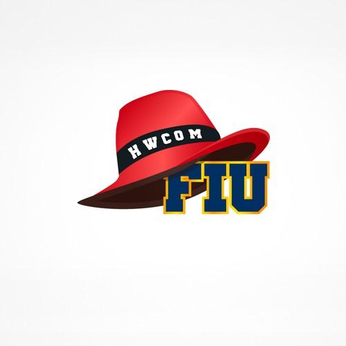 Playful logo for HWCOM FIU