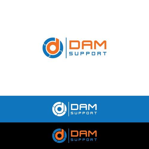 Inspiring logo for DAMsupport.nl