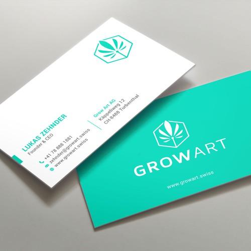 GrowArt Business Card