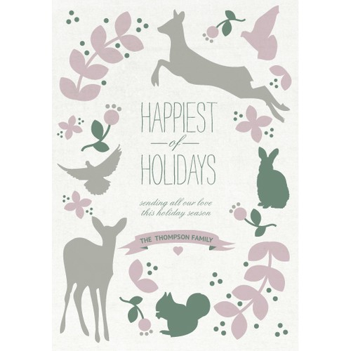"Picaboo 5"" x 7"" Flat Holiday Cards (will award up to 25 designs!)"