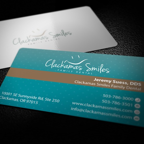 Help Clackamas Smiles Family Dental with a new stationery