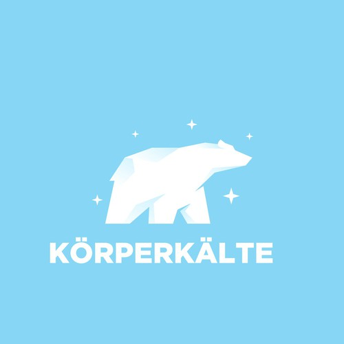 A Geometric Polar Bear Logo Concept for KÖRPERKÄLTE