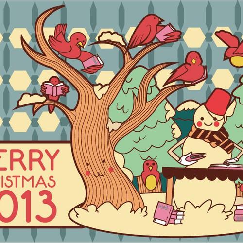 Create a non religious Christmas card