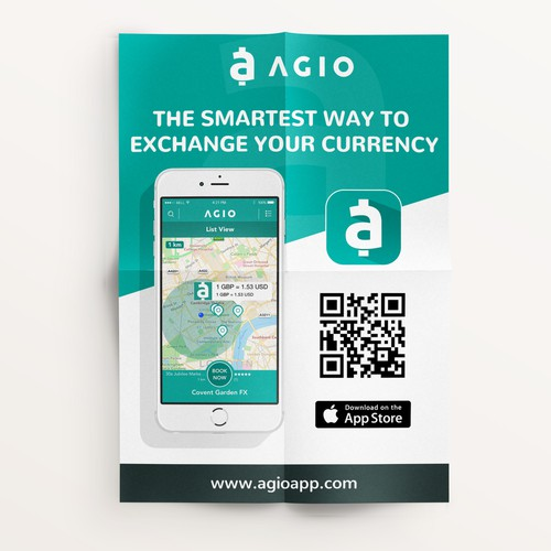 Leaflet for brand-new currency exchange app