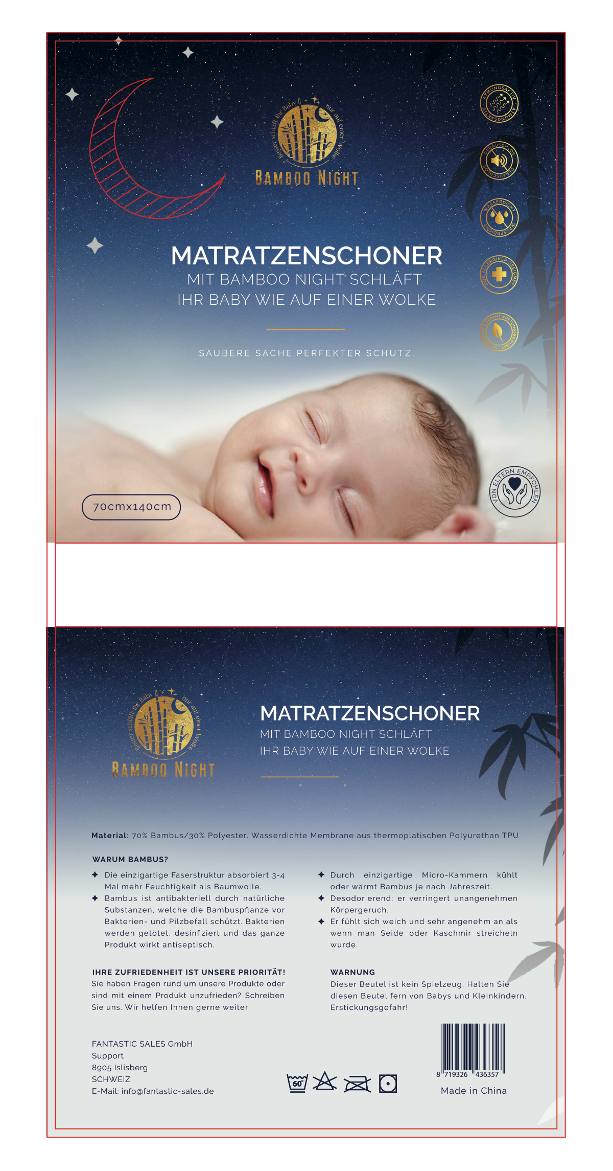 Luxuriöse Naturfasern für Babys Schlaf