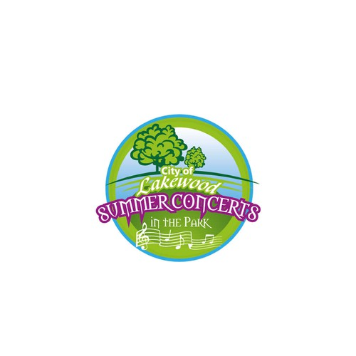 Logo concept for city of lake wood summer concerts