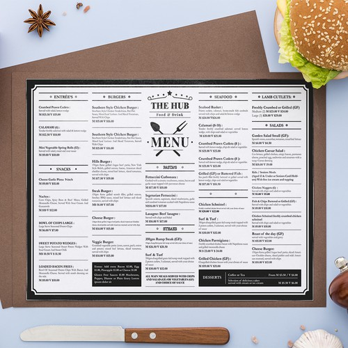 The Hub Menu Design