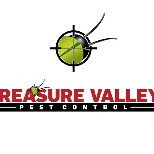 Build a friendly pest control themed logo for Treasure Valley Pest Control