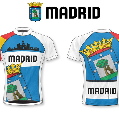 Cycle jersey representative of the city of Madrid