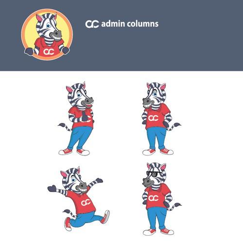 Logo design for zebra mascot