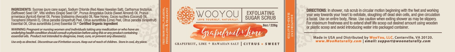 Create feminine, warm, organic, soft product labels for sugar scrub & then entire family of products