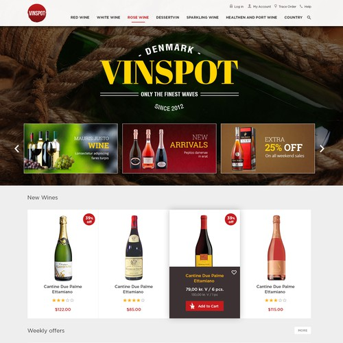 Website Design for Vinspot