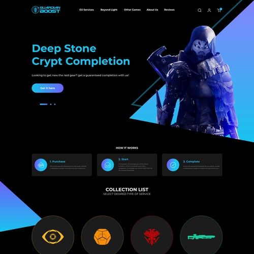 Web Design for Guardian Boost