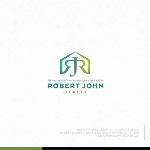 Fresh, approachable, sophisticated real estate logo