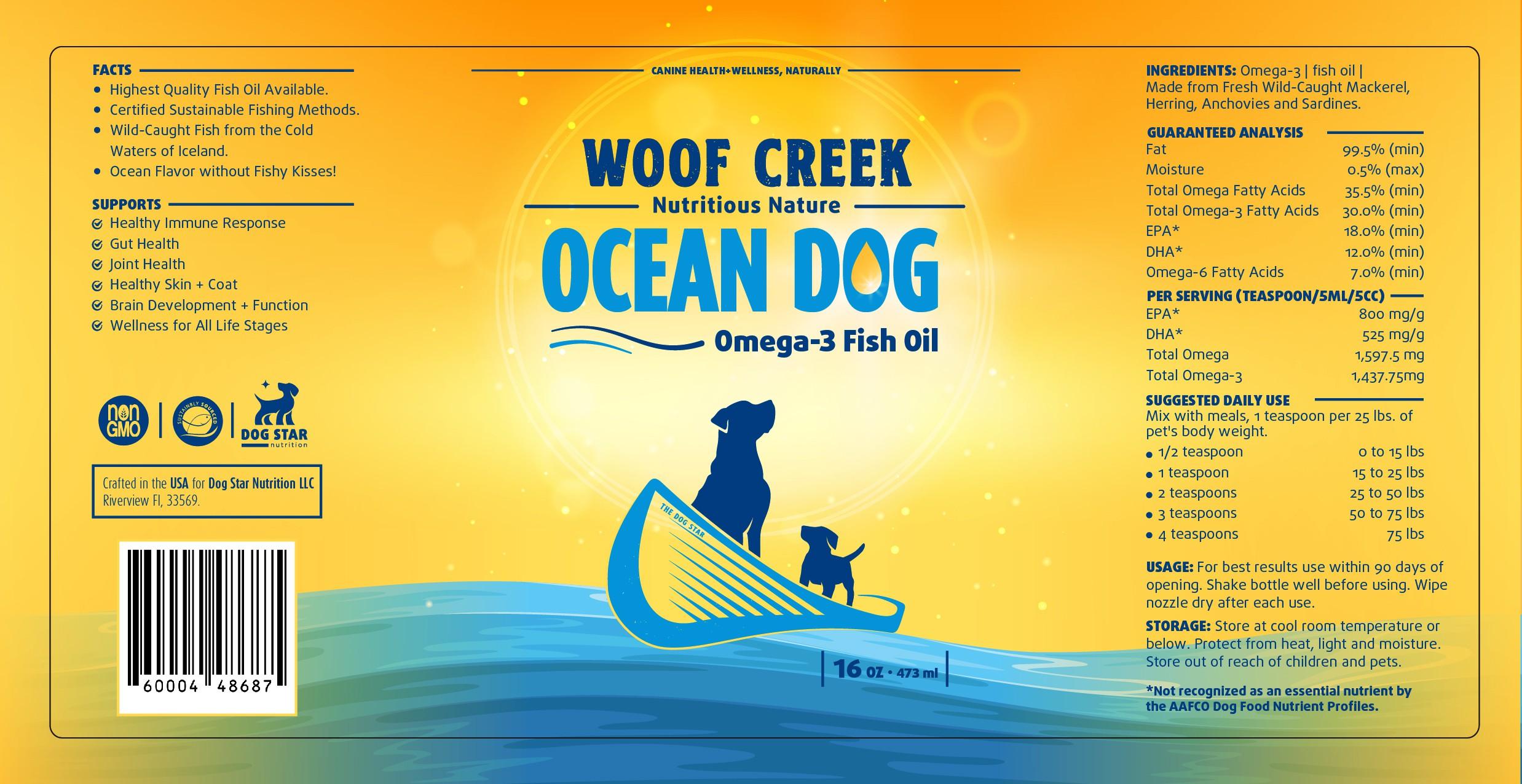Ocean Dog project Woof Creek