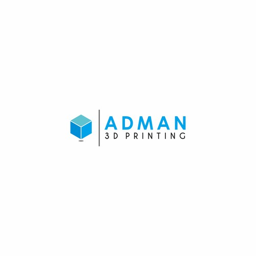 logo concept for ADMAN 3D Printing