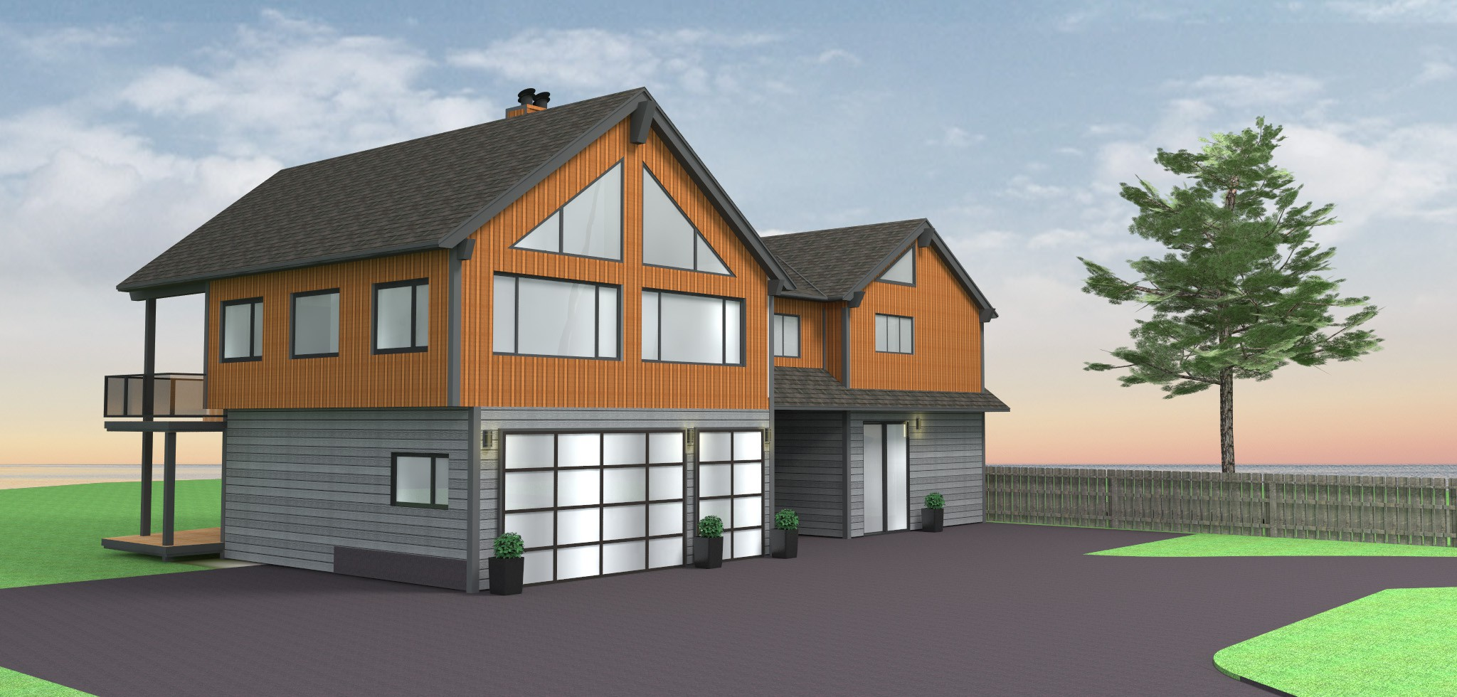 Final Beach House with 6 Siding Versions