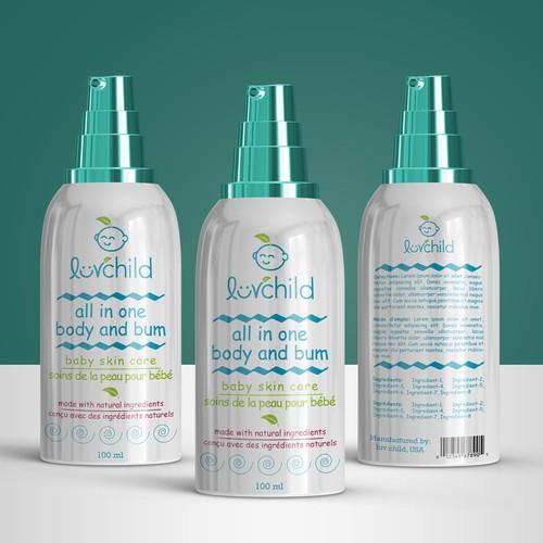 Baby skin care bottle design