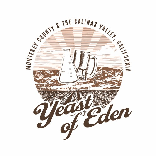 Yeast of Eden logo & label design