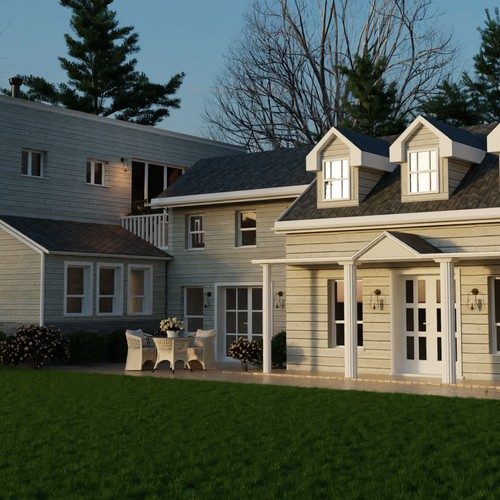 3D render of a house exterior