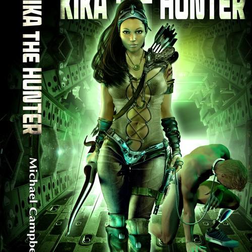 Sci-fi fantasy book cover