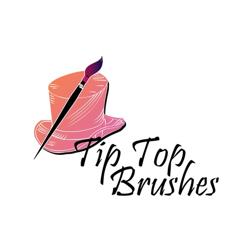 Artistic Brush Stoke - Tip Top Brushes Logo