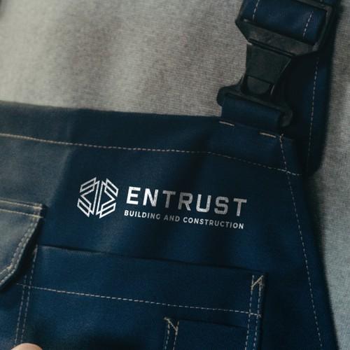 Logo design for Entrust Building and Construction