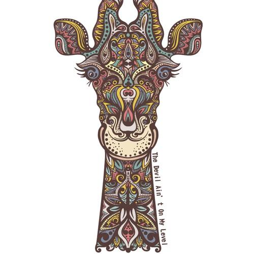 Bohemian Giraffe Shirt