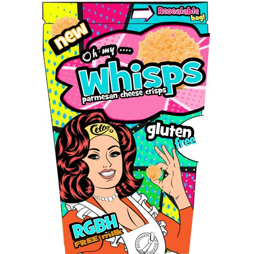 retro/comic style chip bag