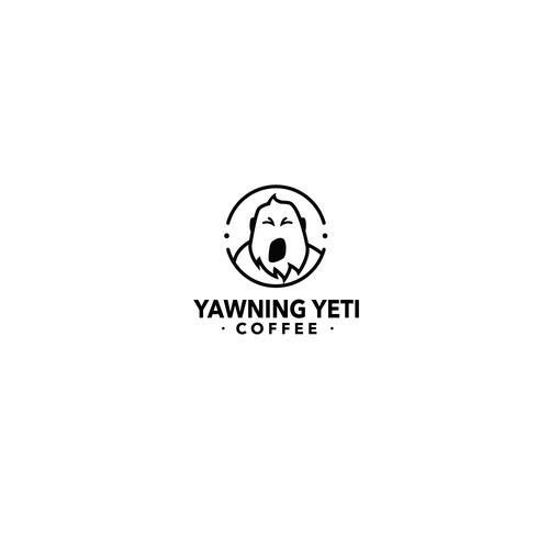 Linear Yeti Mascot Logo
