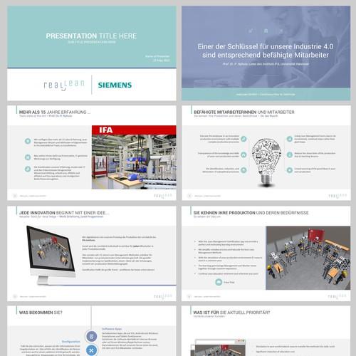 Presentation design for reaL Lean