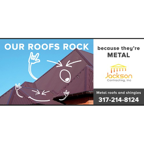 Memorable billboard for a roofing company