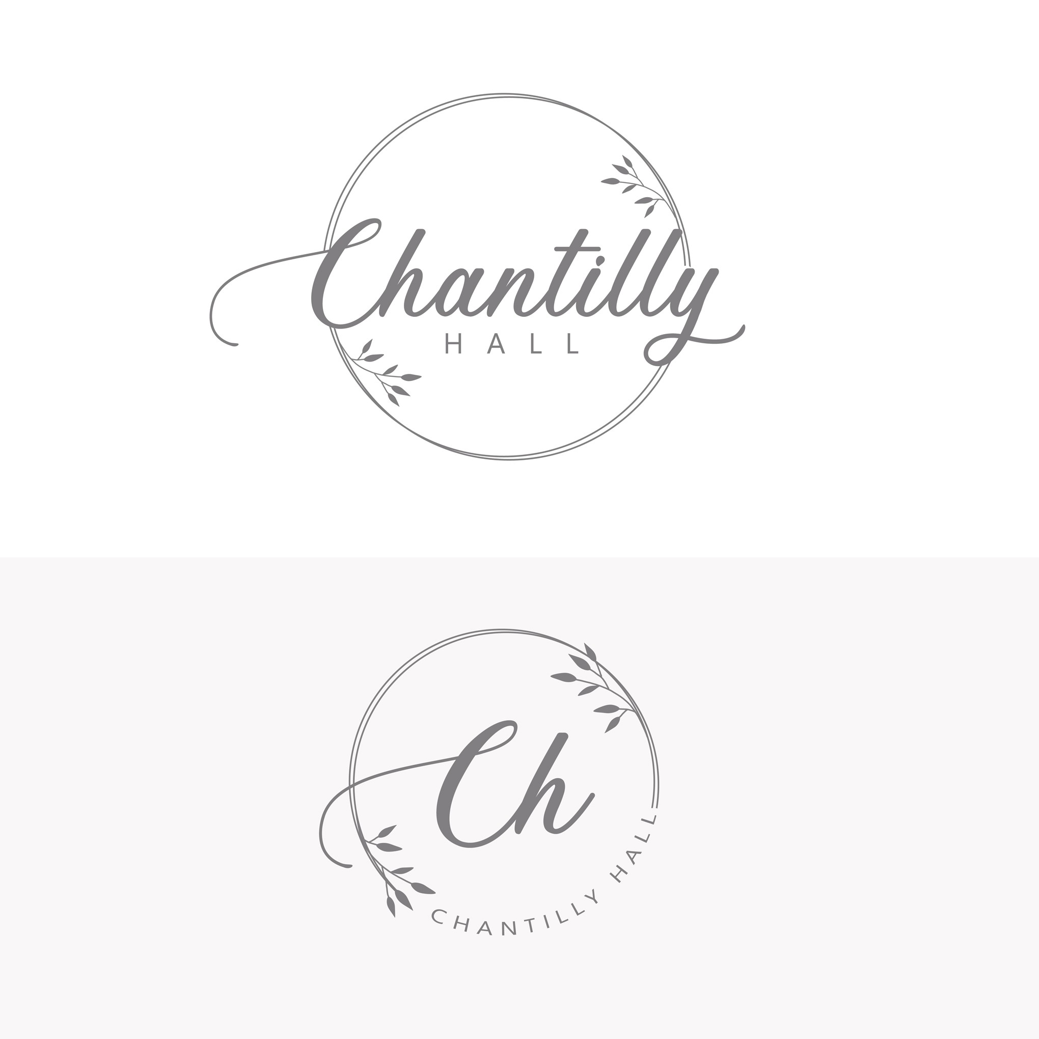A logo for an elegant and classy wedding venue that is on the top floor of a historic building