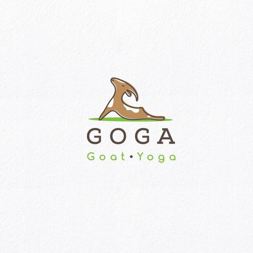 Whimsical logo for yoga classes