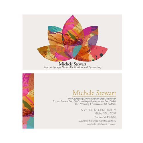 Eye catching business card