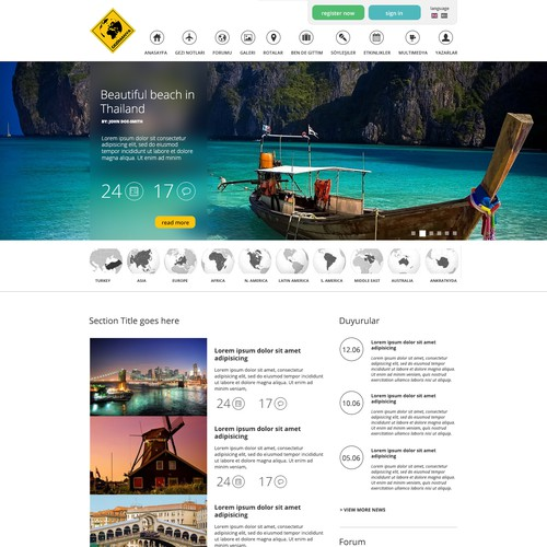 Traveling Website